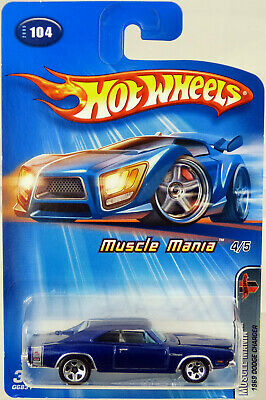 Hot Wheels 1969 Dodge Charger Muscle Mania #G6831 New NRFP 2005 Blue SP5 1:64