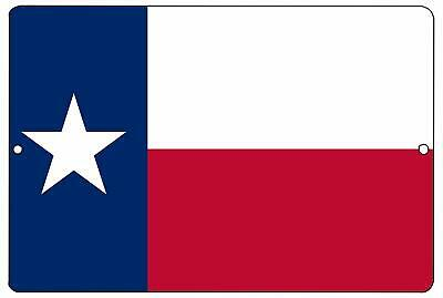 Texas State Flag Metal Tin Sign Wall Decor Man Cave Bar Texans Lone Star