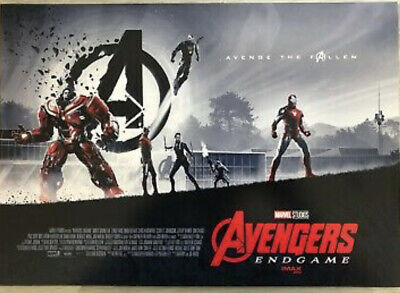 "AVENGERS ENDGAME AMC IMAX EXCLUSIVE POSTER 11"" x 15.5"" Week 1 of 2 MARVEL/DISNEY"