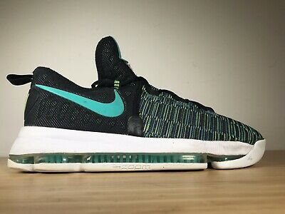 """size 40 0a00c b505b Nike Zoom Kevin Durant KD9 GS """"Birds Of Paradise"""" Black Clear Jade"""
