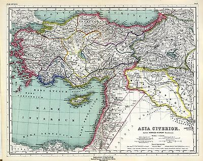 1903 old antique map of  ANCIENT WORLD empires ASIA Turkey SYRIA Middle East 4