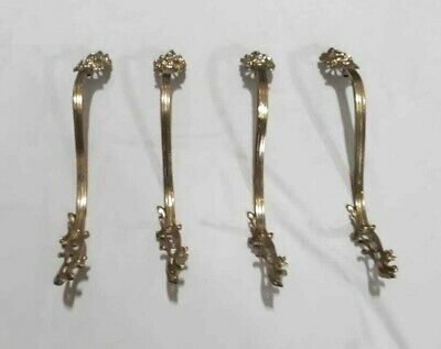 Antique Lot 4 Bronze Curtain Drapes Hooks Racks Holdback Drapery Tiebacks France