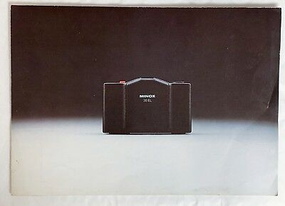 Minox 35EL, A4  4 Page Fold Out Product Brochure