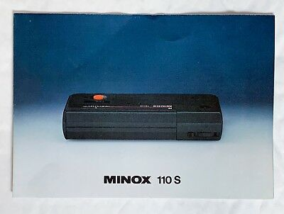 Minox 110S, A5  4 Page Fold Out Product Brochure
