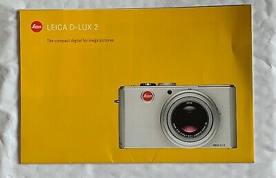 Leica D-Lux 2, Product Brochure
