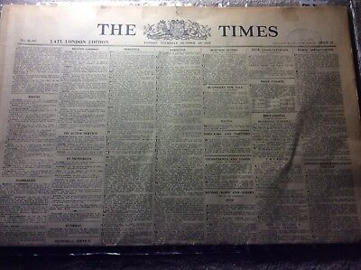 Genuine Vintage The Times Newspaper Thursday October 19 1939