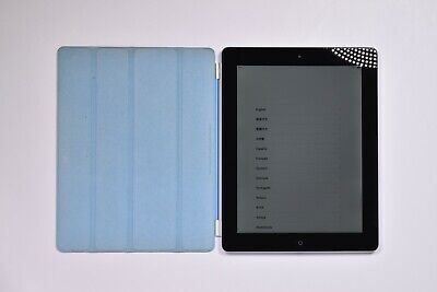 Apple iPad 4th Generation 16gb Wifi Black (MD510LL/A, A1458) Bundle Smart Cover