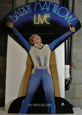 Barry Manilow Live-ORIGINAL 1978 55x30 PROMO Store Standee Display!