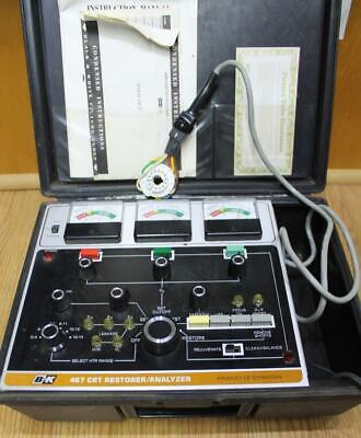 B&K 467 PICTURE TUBE RESTORER ANALYZER with attachments