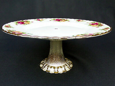 "OLD COUNTRY ROSES 26cm 10"" CAKE STAND /TALL COMPORT, 1st  QLTY, GC, ROYAL ALBERT"