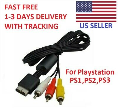 Playstation 6ft RCA AV TV Audio Video Stereo Cable Cord For PS1 PS2 PS3