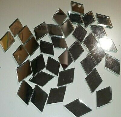 Diamond shape Mirror tiles. For your mosaic project's. 35 in a pack.