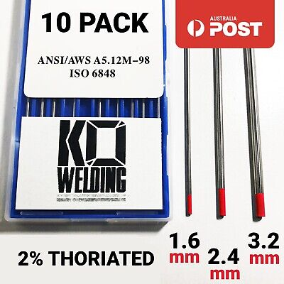 RED 2% Thoriated Tungsten for AC/DC TIG Welding TIP Electrode 175mm Best AU WT20