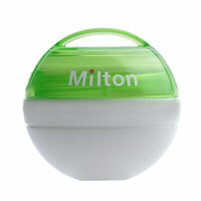 Milton Baby Mini Portable Soother Infant Pacifier 100% watertight Steriliser GRN