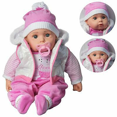 20'' Baby Reborn Doll Lifelike Soft Body Newborn Realistic Sounds Outfit & Dummy