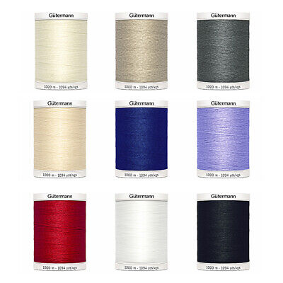 Gutermann Sew All Sewing Thread 1000m Polyester Hand or Machine Use - 13 Colours