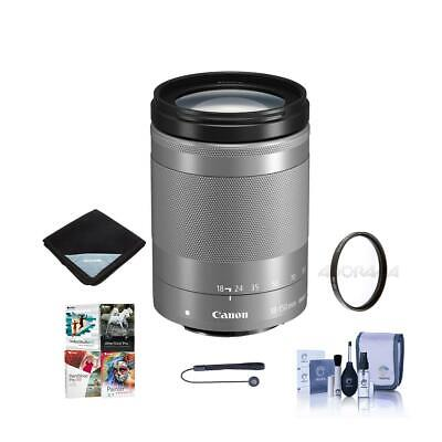Canon EF-M 18-150mm f/3.5-6.3 IS STM Lens, Silver With Free Accessory Bundle