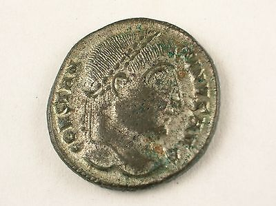 Constantine I AE Follis.Laureate head obv.VOT X*X rev.Silver washed.Heraclea mnt