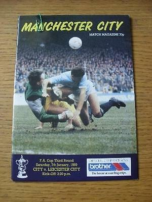 07/01/1989 Manchester City v Leicester City [FA Cup] . No obvious faults, unless