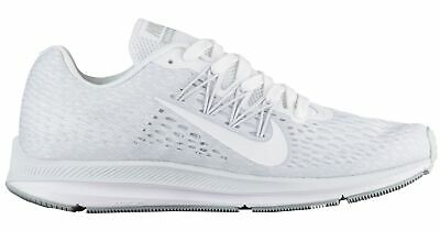 sale retailer 8a031 fc2cc Nike Zoom Winflo 5 Womens AA7414-100 White Grey Platinum Running Shoes Size  10