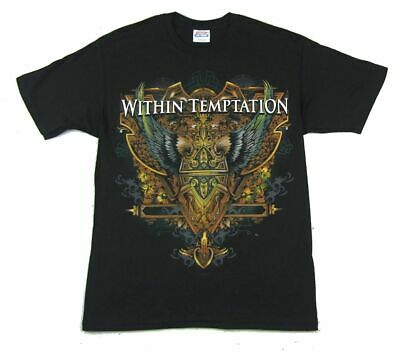 Within Temptation Winged Ornate Image Black T Shirt New Official Band Merch