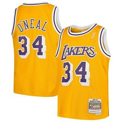 Shaquille O'Neal Los Angeles Lakers Mitchell & Ness Youth Swingman Throwback