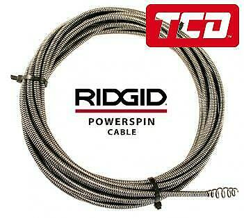 Ridgid Powerspin Drain Cleaning Cable 88387 - 7.6m