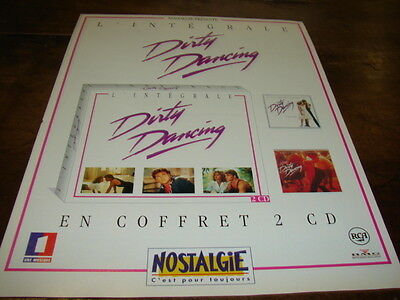 PATRICK SWAYZE & JENNIFER GREY - Publicité de magazine DIRTY DANCING !!! 1 !!!!!