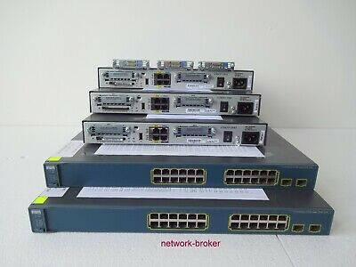 Cisco CCNA CCNP Starter Kit Lab 3x 1841 Router 2x PoE switche 3x WIC-2T DTE DCE
