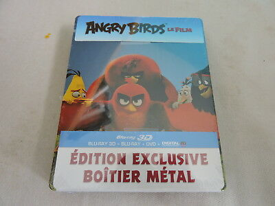angry birds  - blu ray 3d + blu ray - coffret steelbook - comme neuf s/blister