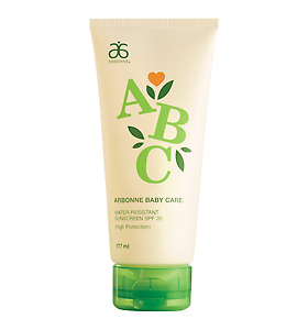 Arbonne Abc Baby Care Water Resistant Sunscreen Spf30 High Protection 177Ml New