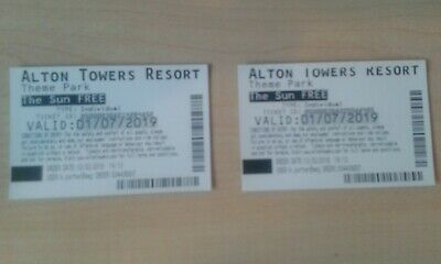 Alton Towers Resort Tickets - Valid For Monday 1St July 2019 Only Great Day Out