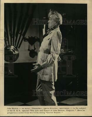 """1969 Press Photo John Huston in scene from the motion picture """"Casino Royale"""""""