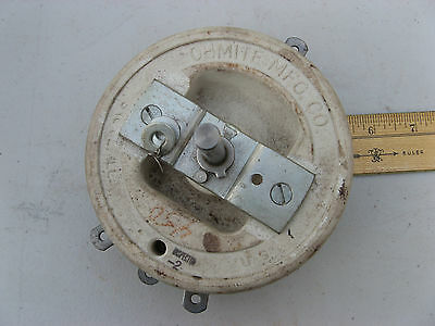 "OHMITE 5"" Model P VARIABLE RHEOSTAT 450 ohm 225 watts 600 volts VITREOUS CERAMIC"