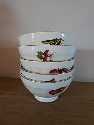 Lot de 5 anciens bols - Vintage french coffee bowls - Kommetjes