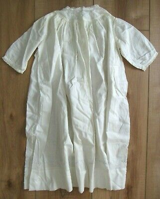 Antique Victorian Embroidered Christening Baptism Gown, Long Dress, Baby or Doll