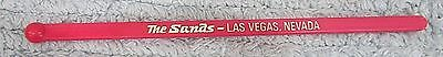 The Sands Las Vegas Hotel Casino Old Silver Pink Plastic Swizzle Stick FREE S/H
