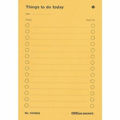 Office Depot A5 Things To Do Pad