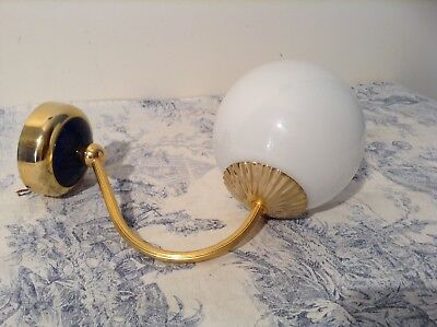 Vintage French Spherical Globe Lantern Wall Sconce Light (3053)