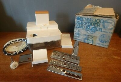 Vtg Retro Kenwood Shredder and Slicer Model A355 70s Boxed Mixer Attachment