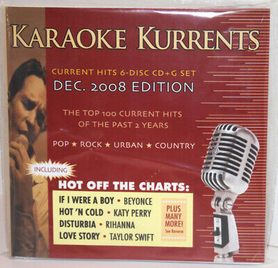 KARAOKE CD+G KURRENTS Dec-2008 Edition 6 Disc Set Rock,Pop,Urban,Country New !!