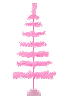 48'' Pink Barbie Tinsel Tree Christmas Holiday Tree 4FT Table-Top XMASS