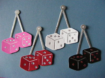 Fuzzy Fluffy Hanging Die Dice Car Good Luck Card Die Cuts