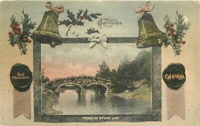 Benhrendt Bridge Christmas 1910 San Francisco California Stowe Lake 3946