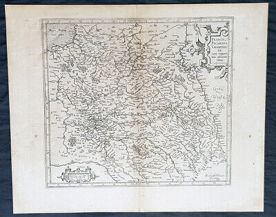 1628 Gerard Mercator & Henricus Hondius Antique Map the Picardy Region of France