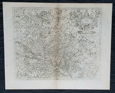 1628 Gerard Mercator & Henricus Hondius Antique Map the Alsace Region of France