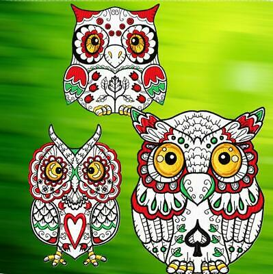 STUNNING OWLS 20 MACHINE EMBROIDERY DESIGNS CD or USB