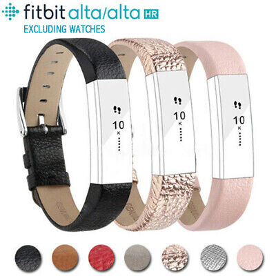 Leather Replacement Wrist Band Strap For Fitbit Alta & HR Small Large Wristband