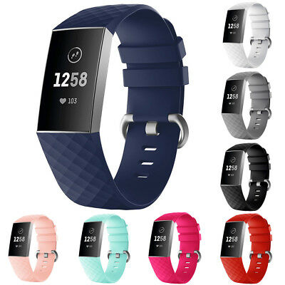 Soft Silicone Replacement Watch Band Wrist Strap Bracelet For Fitbit Charge 3