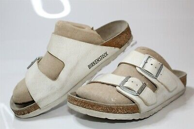 032268190090 Birkenstock Germany Made Womens 5 36 Arizona White Leather Sandals Slides  Shoes